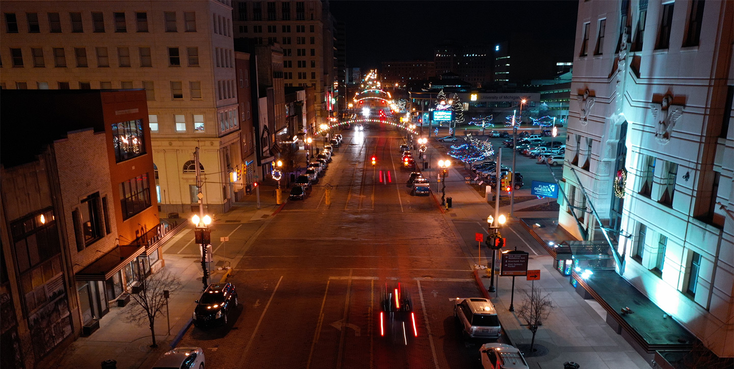 Flint At Night